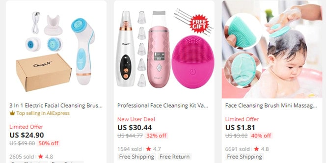 AliExpress dropshipping beauty product example