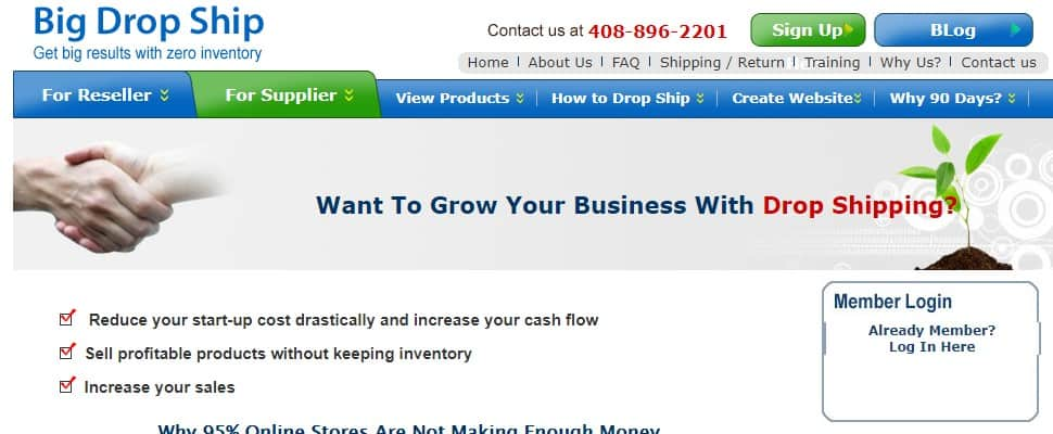 big drop is one of the free drop shipping suppliers