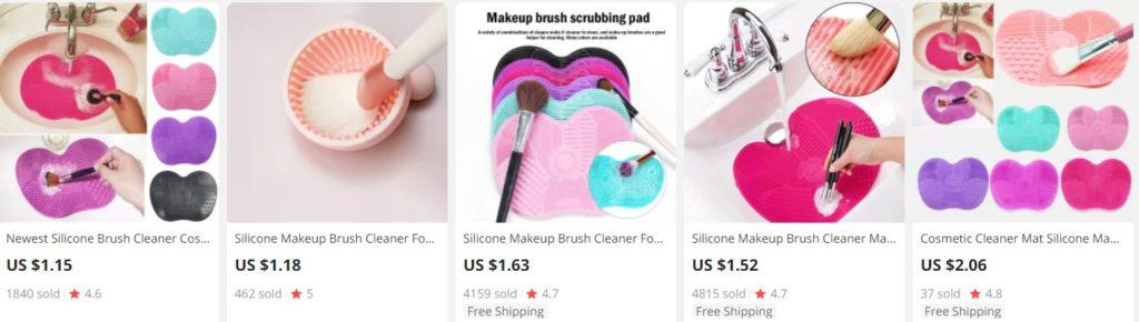 Brush cleaners for beauty dropshipping stores