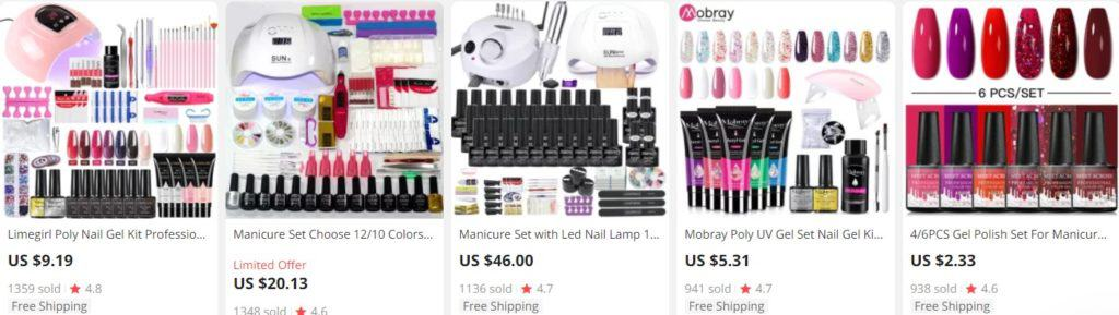 nail sets as beauty products to sell online