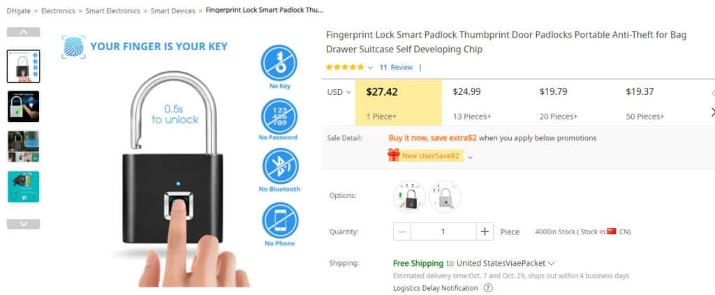 dropship security products from DHgate