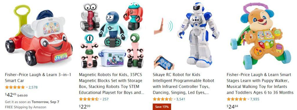 Dropshipping toys examples from Amazon