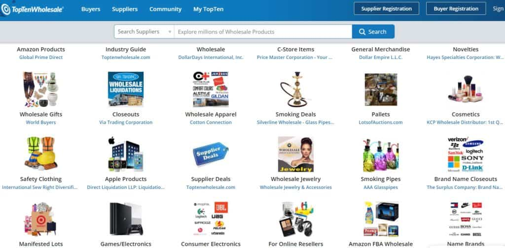 TopTenWholesale for free dropshipping