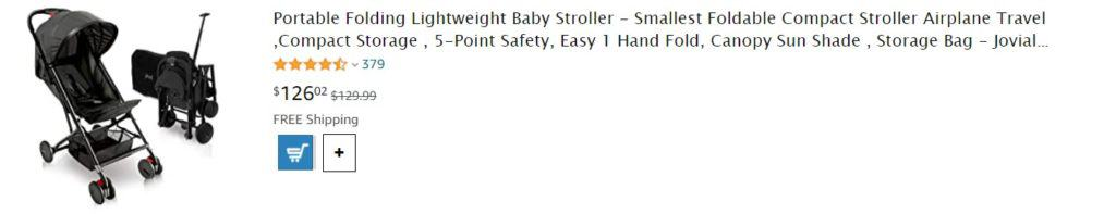 Amazon baby stroller for dropshipping