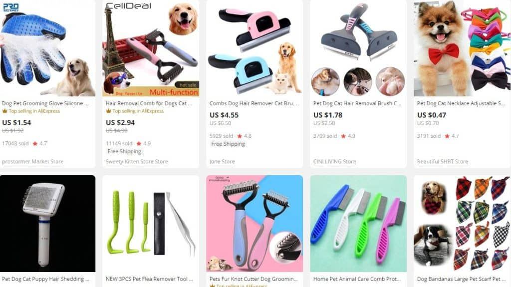 best selling pet supplies from Aliexpress