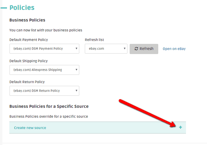 assign bizpolicies to a specific dropshipping supplier