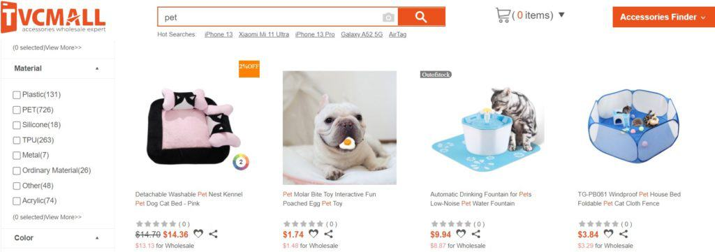 tvcmall pet wholesale dropshipping